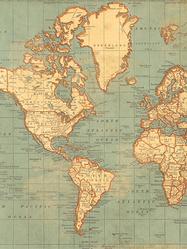"Presentpapper/affisch ""Vintage map"" 49x70 cm"