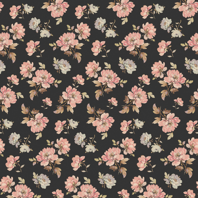 "Wrapping paper/poster ""Antique Floral"" 49x70 cm"
