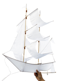 "Kite ""Sailing ship"" white"