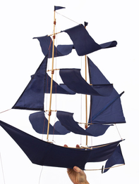 "Kite ""Sailing ship"" indigo blue"